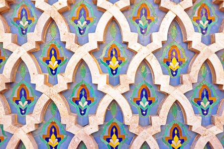 tiled wall: Tiled wall in Morocco