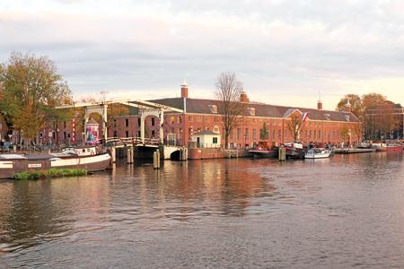 Stad toneel van Amsterdam in Nederland