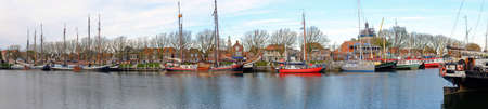 enkhuizen: Panorama from the harbor from Enkhuizen in the Netherlands Stock Photo