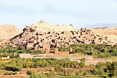 patronage: Morocco Ouarzazate - Ait Ben Haddou Medieval Kasbah  . Location for many films - Gladiator, Babel, Alexander, Sheltering Sky, Sodom and Gamorah and the Mummy. Editorial