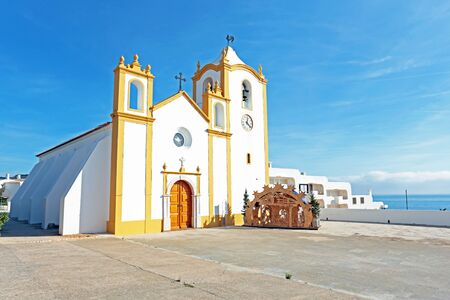 senhora: Church of Our Lady of the Light (Nossa Senhora da Luz) in Luz, Algarve, Portugal Stock Photo