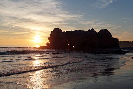 rocha: Sunset at Praia da Rocha in Portugal