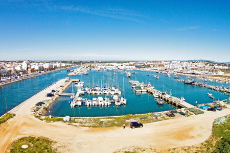 Lagos: Aerial from the harbor from Lagos in Portugal