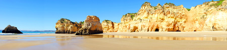tres: Panorama from praia Tres Irmaos in Alvor Portugal