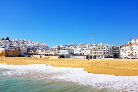 Uitzicht op Albufeira in de Algarve Portugal Stockfoto