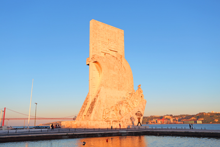 discoveries: Monument to the discoveries Lisbon at twilight