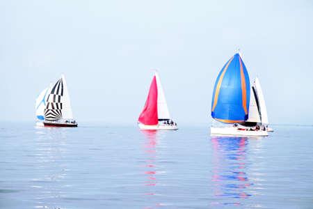 ijsselmeer: Sailing on the IJsselmeer in the Netherlands Stock Photo