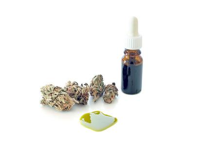 Medische Cannabis Marihuana olie klaar voor consumptie Stockfoto