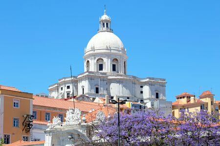 pantheon: Santa Engracia Church, or the National Pantheon, in Lisbon Stock Photo