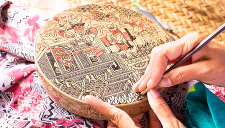 antique asian: Making antique asian handicraft