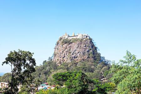 bagan: Mount Popa, at Bagan, Myanmar