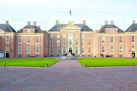 alteration: APELDOORN, NETHERLANDS -November 4, 2015: front of Het Loo Palace in Apeldoorn. Editorial