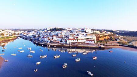 portugal: The village Ferragudo in the Algarve Portugal Stock Photo