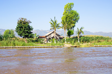 typical: Typical burmese landscape in Myanmar Stock Photo