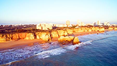 praia: Famous Praia da Rocha in Portimao Portugal
