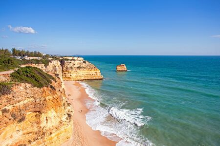 praia: Praia da Marinha in the Algarve Portugal