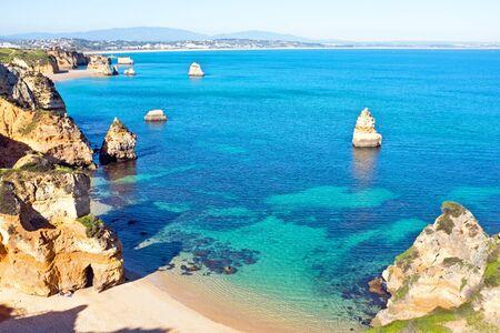 camillo: Natural rocks at Praia Do Camillo in Lagos Portugal