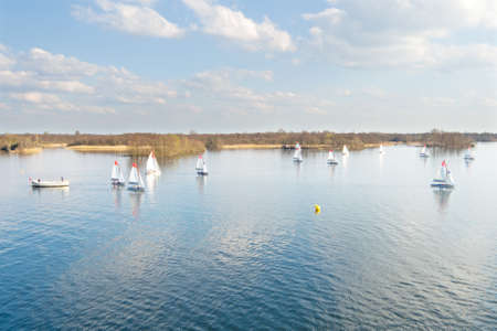 plassen: Sailing at Loosdrechtse Plassen in the Netherlands
