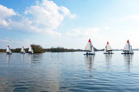 plassen: Sailing on the Loosdrechtse Plassen in the Netherlands