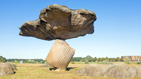 Megalithic stones in Drenthe, Netherlands, Stock Photo