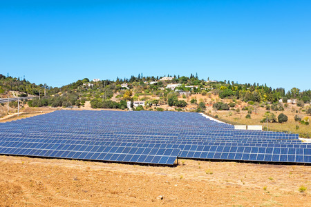 Solar energy panels in the countryside from Portugal
