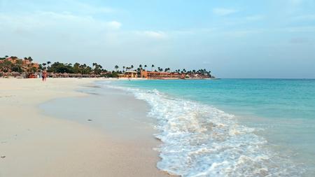 Druif strand van Aruba eiland in de Caribische zee