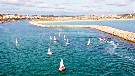 algarve: Aerial from the city Lagos in the Algarve in Portugal