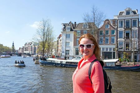 dutch: Young native dutch woman in Amsterdam the Netherlands