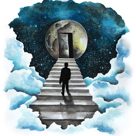 lunatic: Man on the stairs to the moon