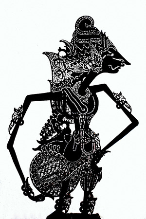 Tradititional wajang puppet on Java Indonesia Asia