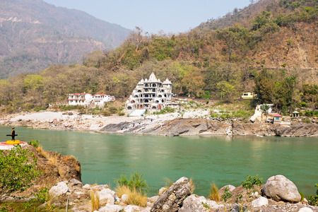 The river Ganges near Laxman Jhula in India Asia Stock Photo