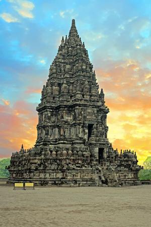 Prambanan or Candi Rara Jonggrang is a Hindu temple compound in Java, Indonesia, dedicated to the Trimurti: the Creator (Brahma), the Preserver (Vishnu) and the Destroyer (Shiva) Editorial