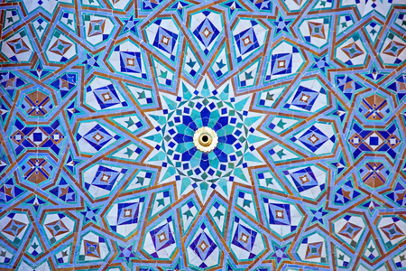 Tiles from the Hassan II Mosque Casablanca Morocco
