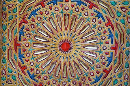 Ancient colored wood pattern, contemporary moroccan style Stock Photo