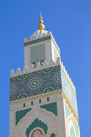Tower from the Hassan II Mosque Casablanca Morocco