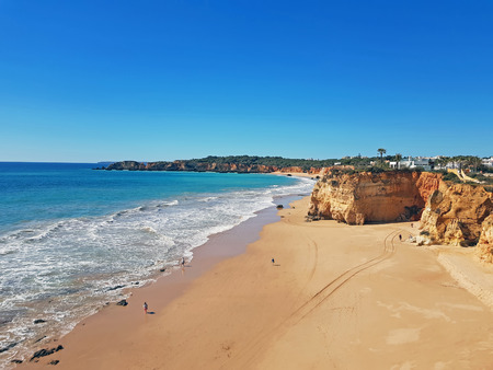 Aerial from Praia da Rocha in Portimao Portugal