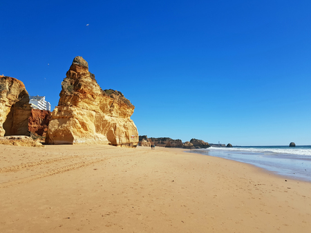Praia da Rocha in the Algarve Portugal