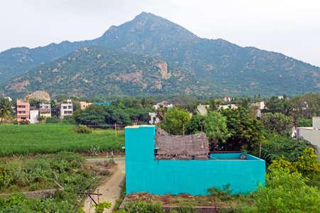 The holy mountain Arunachala in Tamil Nadu India