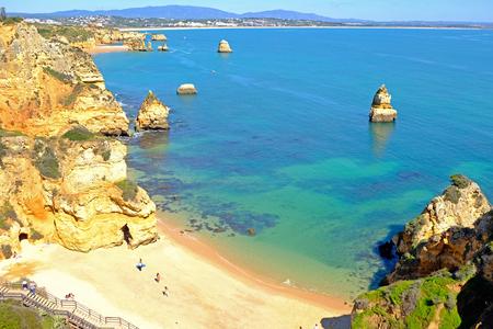 Praia D'Ana in the Algarve Lagos Portugal 版權商用圖片