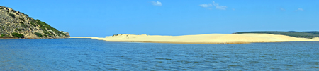 Panorama from Carrapateira beach at the westcoast in Portugal