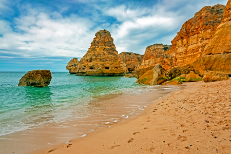 Praia da Marinha in the Algarve Portugal
