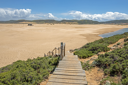 View from Carapateira beach in the Algarve Portugal Standard-Bild - 123552691