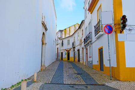 Old traditional portuguese street in Lagos the Algarve Portugal Stockfoto