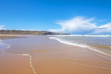 View from Carapateira beach in the Algarve Portugal Standard-Bild - 123552700
