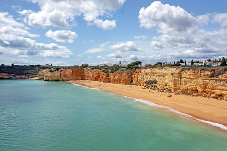 Praia Nova in Armacao de Pera in the Algarve Portugal Standard-Bild - 123552771