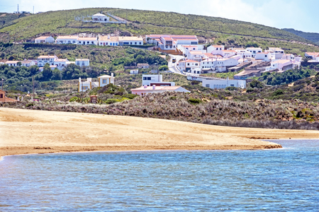 View from Carapateira in the Algarve Portugal Standard-Bild - 123552780