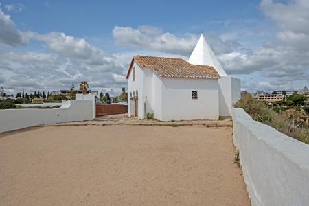Church Senhora Nossa in Armacao de Pera Algarve Portugal Standard-Bild - 123552783