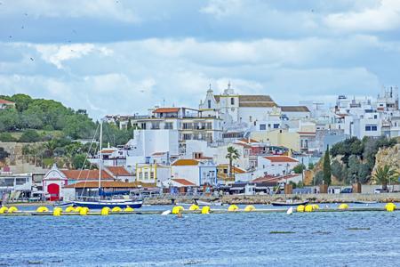 Harbor from Alvor in the Algarve Portugal Standard-Bild - 123552870