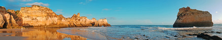 Panorama from praia Tres Irmaos in Alvor the Algarve Portugal