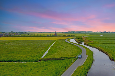 Beautiful Holland in spring in the Netherlands Stockfoto